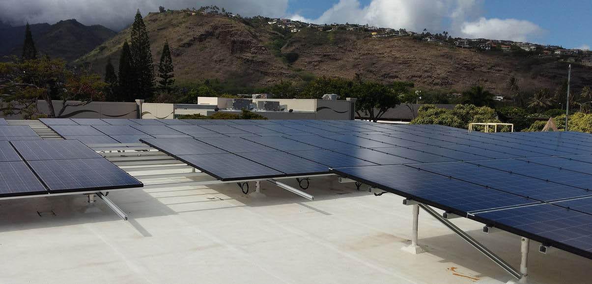 Solar panels on Oahu