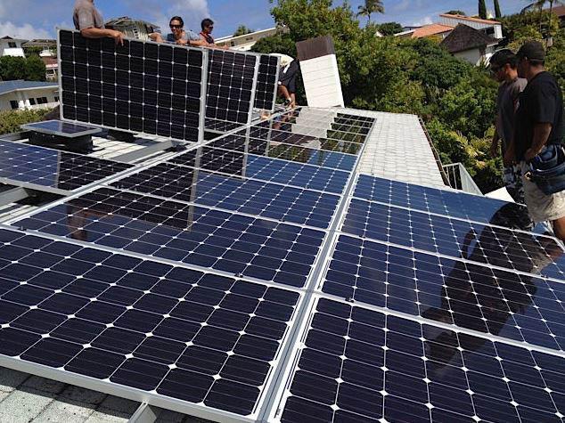 Install a solar panel on Maui
