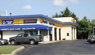 Ponte's Auto Care. Wilmington DE. All Makes & models. Oil change, brakes, tires, battery, inspection, emission, walk-in welcome