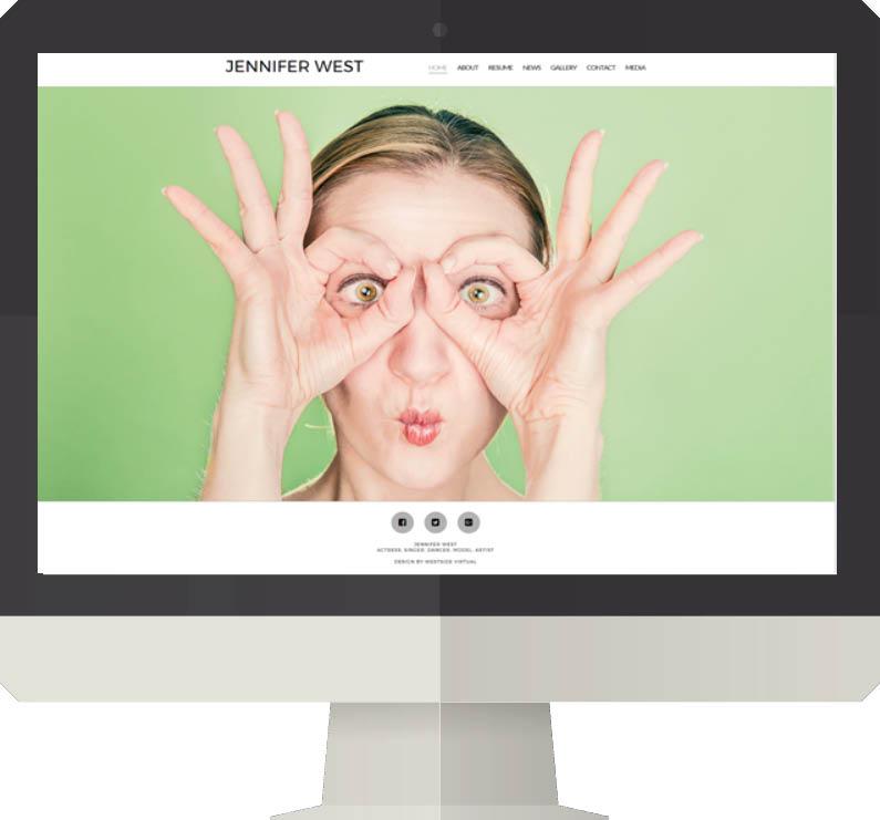 Individual actors, singers, dancers or models website design