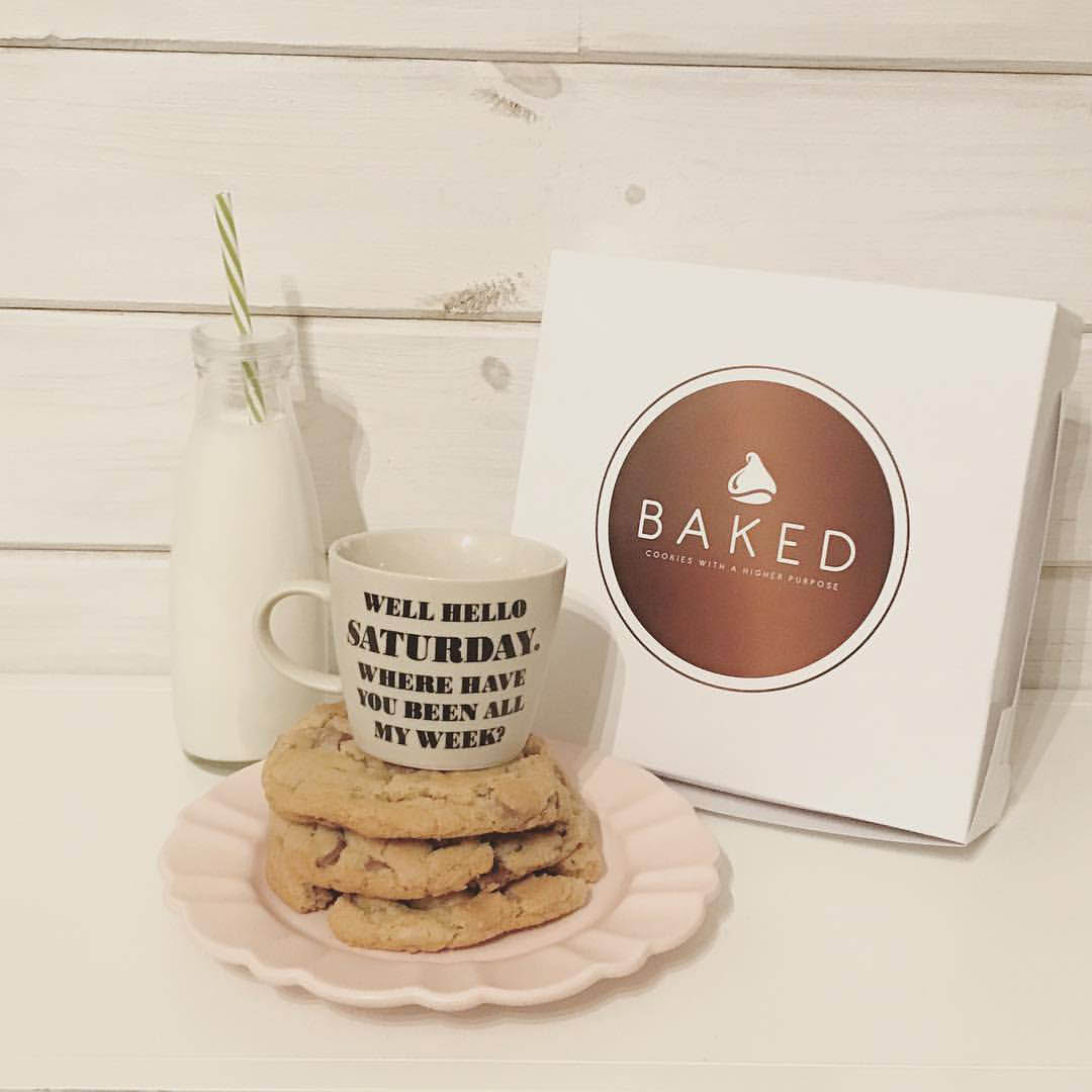 Our fresh BAKED cookies are always delicious when paired with milk!