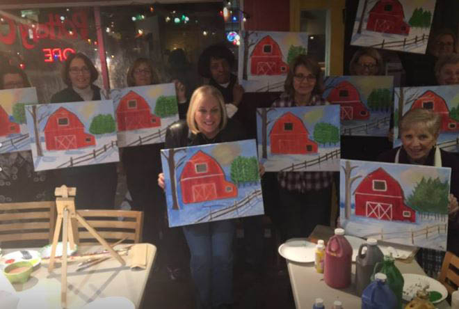 the pottery cove paint your own pottery studio in catonsville, md canvas paint night
