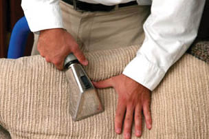 upholstery cleaning with Power Steam in Fort Worth, TX