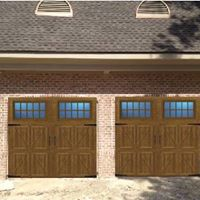 Newly installed double Precision Garage Doors