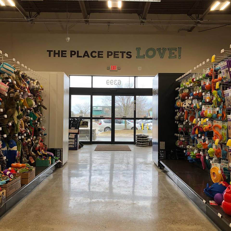 inside look at the assortment of pet toys offered at Premier Pet Supply in Canton, MI