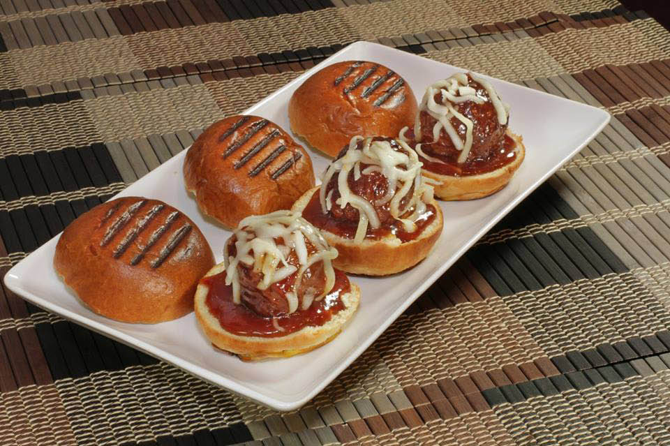 Meatball sliders from Premier Fire & Grill.