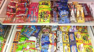enormous movie theater candy selection