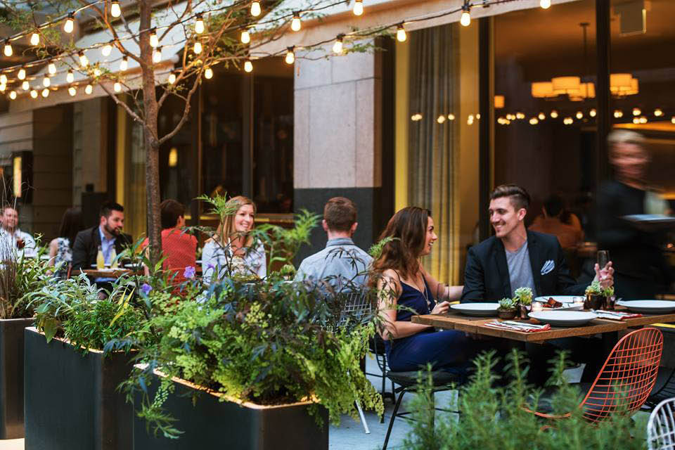 Outdoor fine dining at Primehouse near West Town
