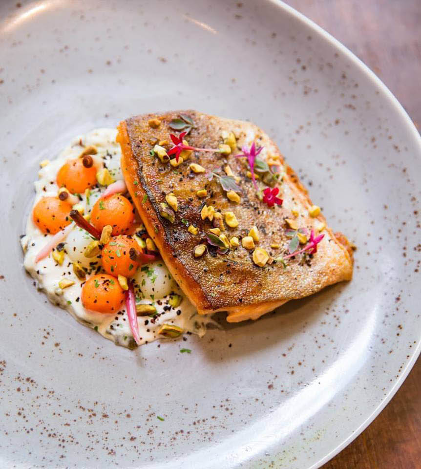 Rare salmon fish with skin discounts near Old Town