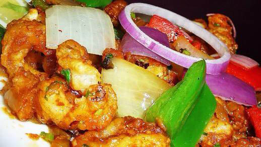 Indian food, lunch specials Shrimp pepper Fry Fish Moilee Seafood Medley Coconut Aloo pepper Fry Lamb masala
