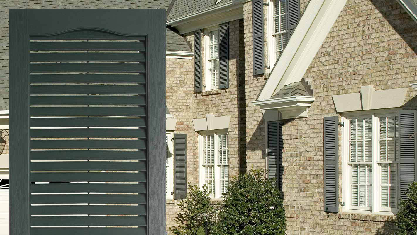 Louvered Vinyl Shutters are durable and beautiful