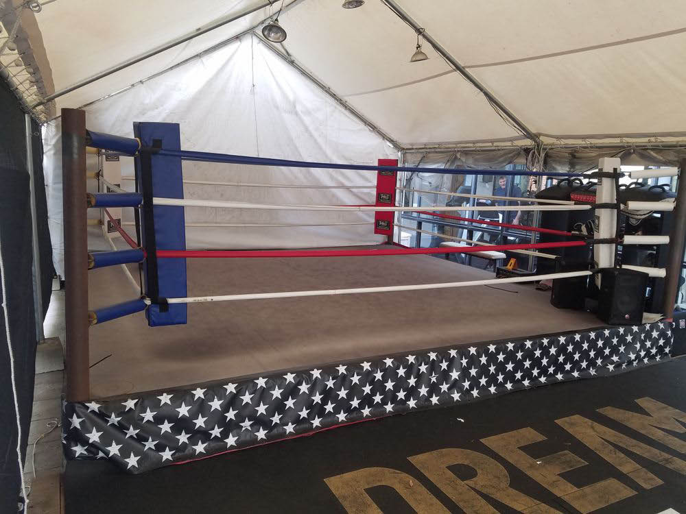 boxing ring at Pro Gym in Brentwood, CA area
