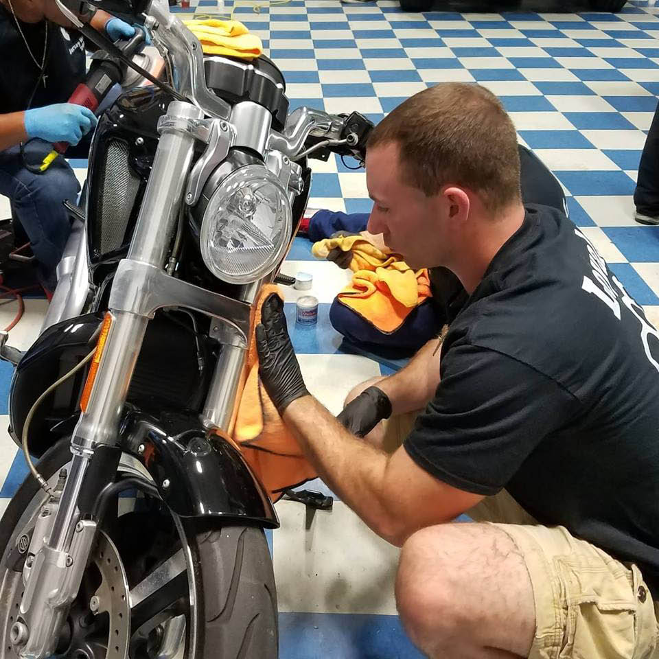 Pro & Local Staff Detailing Motorcycle