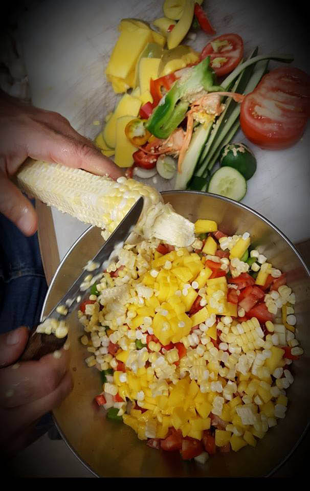 homemade fresh corn salad