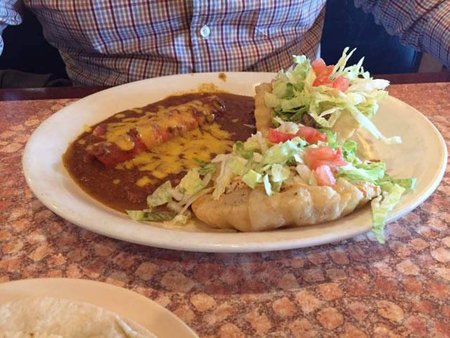 Los Barrios Puffy Tacos and Enchiladas