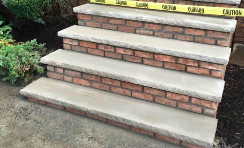 stairs, brick, pavers