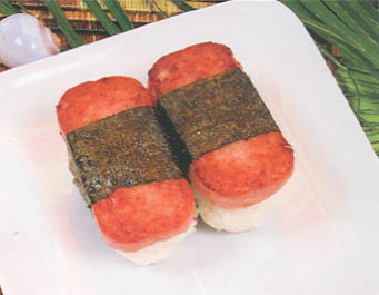 Spam musubi at Q & Q Hawaiian B.B.Q.