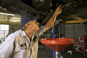 Oil change service at Quik Quality Car Wash & Lube in PA