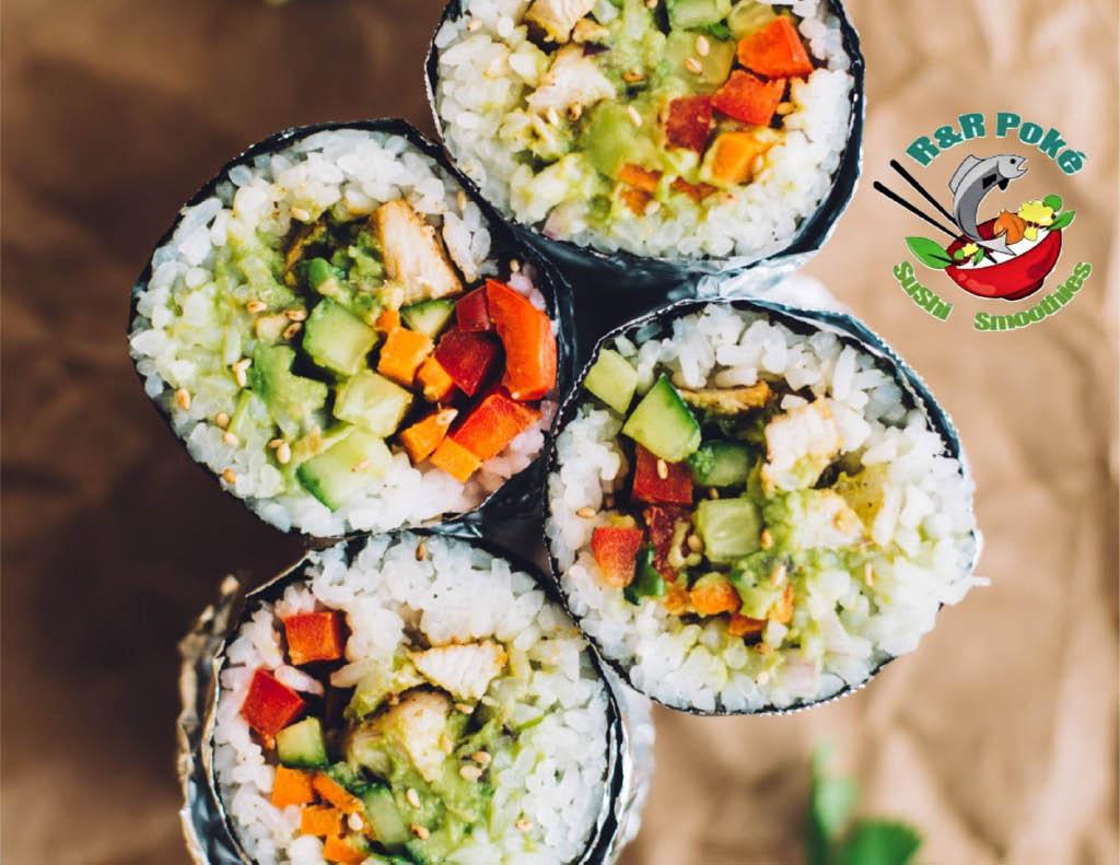 r and r poke sushi burritos