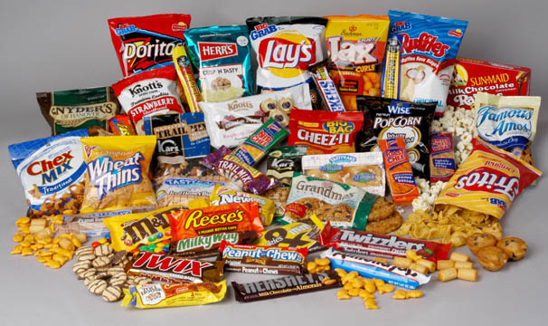 Picture of assorted snacks
