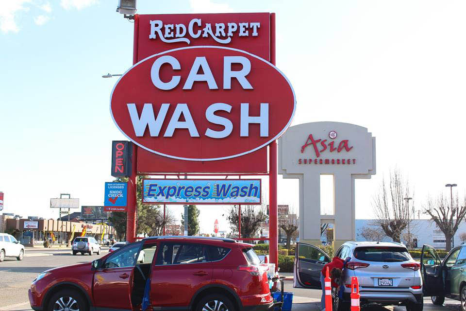 find us in Fresno and Clovis, CA and other nearby cities - look for our bright red sign