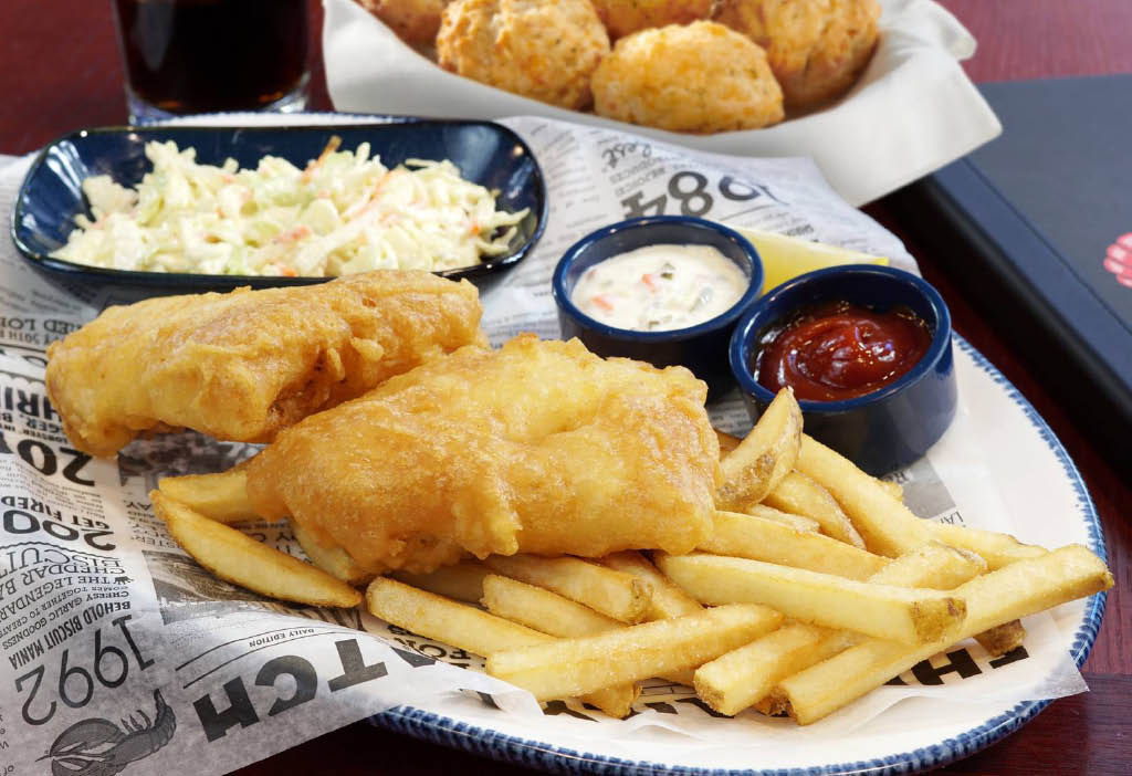 Hand battered wild cod - fish and chips