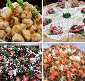Garlic knots, salad, pizza and more