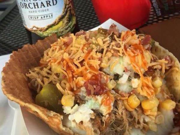 Redwood Wagon Food Truck savory waffle bowl