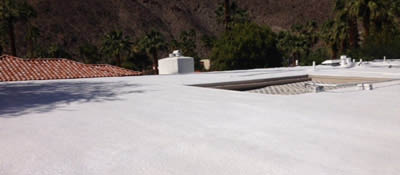 Flat roof newly completed