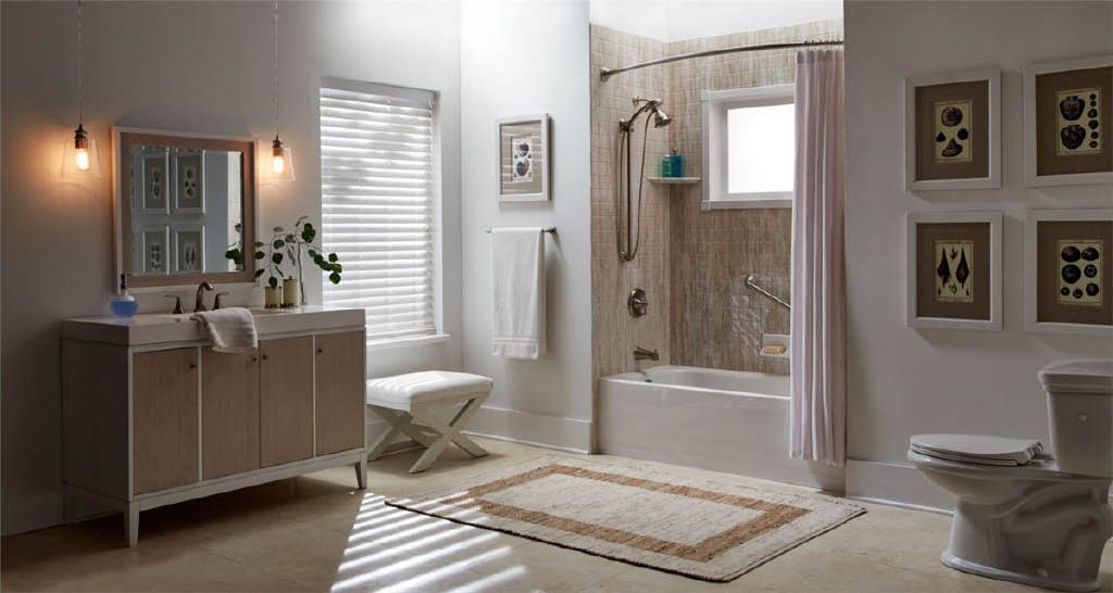 Lovely replacement bath and shower .