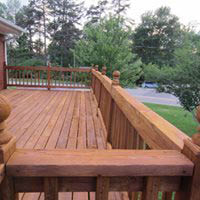 After photo of renewed deck and railings near Cayucos, CA