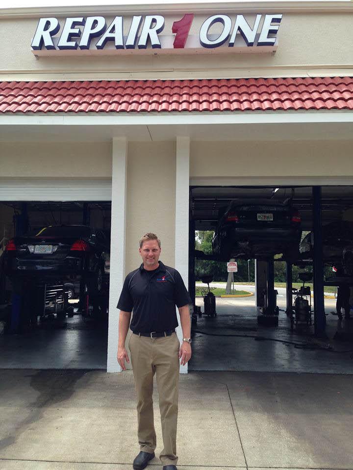 Multiple service bays at RepairOne Auto near Daytona Beach