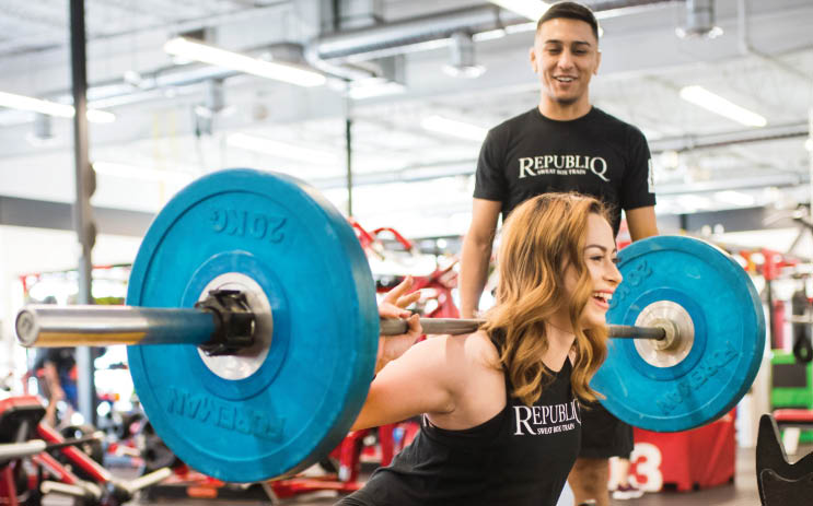 Weight lifting sessions with our experts