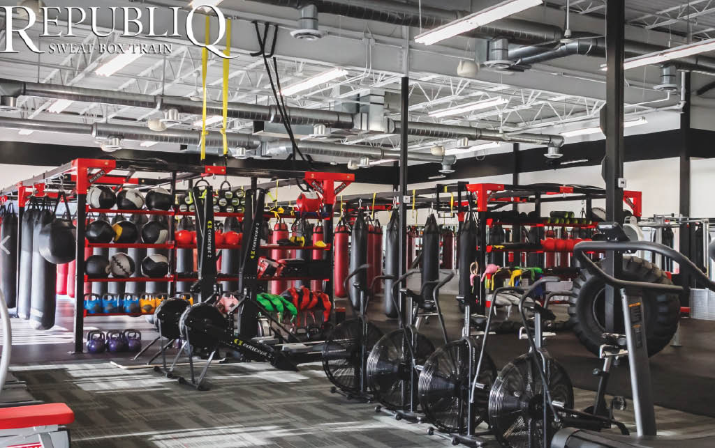 All types of fitness equipment