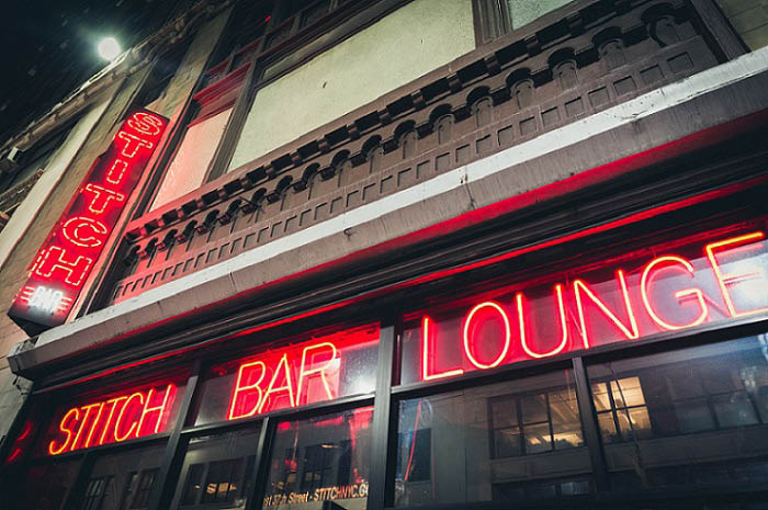 Stitch Bar & Lounge exterior entrance