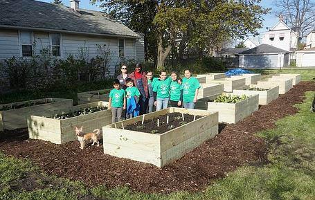 Clean up at Restoration Ministries Community garden.