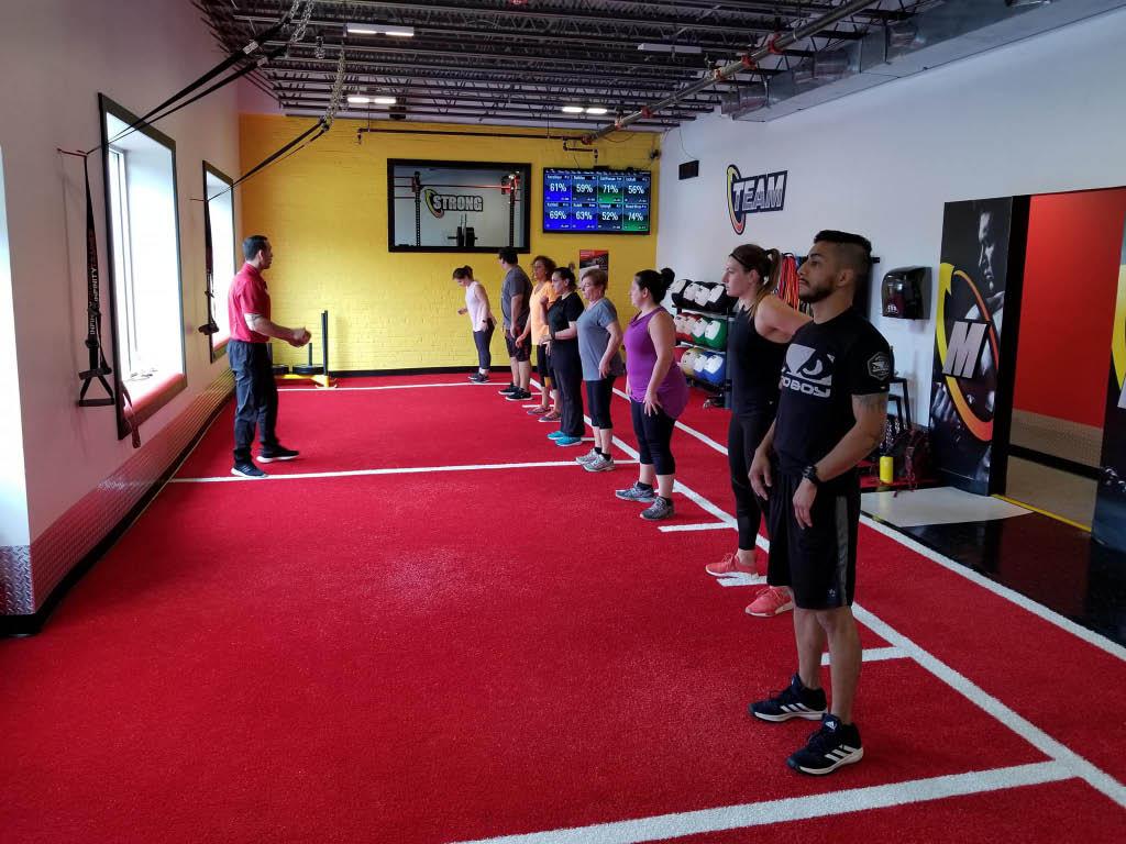 indoor fitness classes at Retro Fitness in Newton, NJ