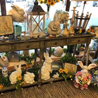 Easter and spring decorations; home decor