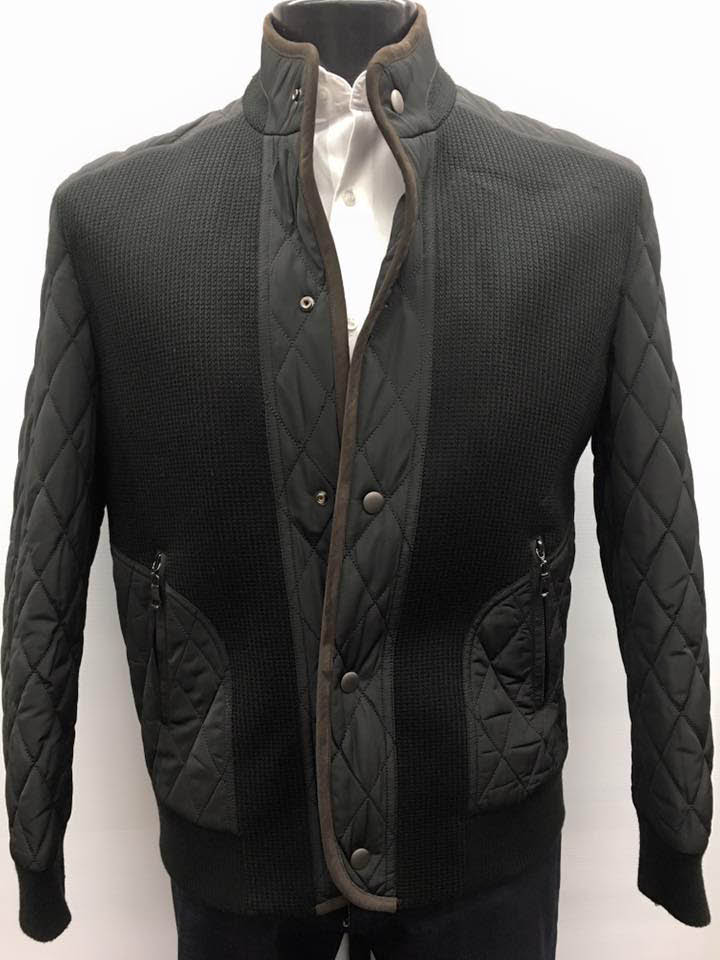 Outerwear jacket with quilted detailing