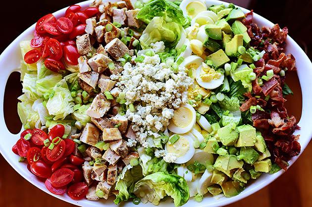 Hearty and homemade garden green salads