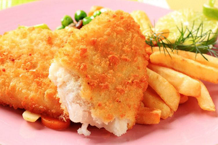 Fish and chips at Rivals On Five Restaurant