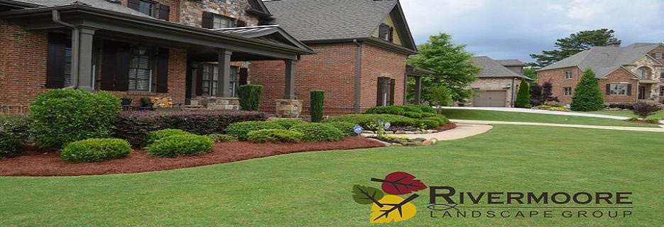 Landscaped yard by Rivermoore Landscape Group in Auburn, GA banner