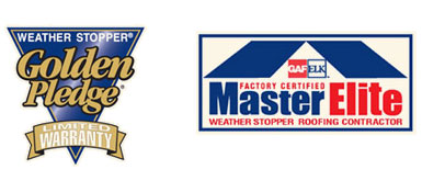 Golden Pledge Limited Warranty and Master Elite Weather Stopper Roofing Contractor