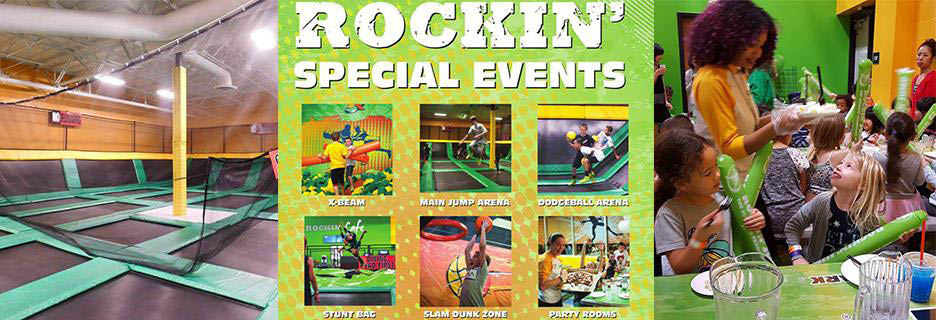 Trampoline park birthday party Rockin' Jump in Palmdale, CA banner Ad