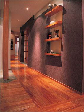 Beautiful hardwood flooring adds warmth to any home interior
