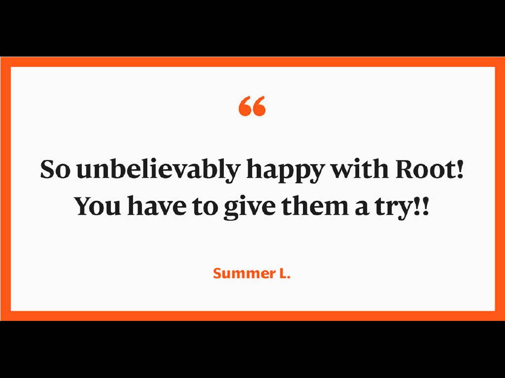 Root Insurance testimonial