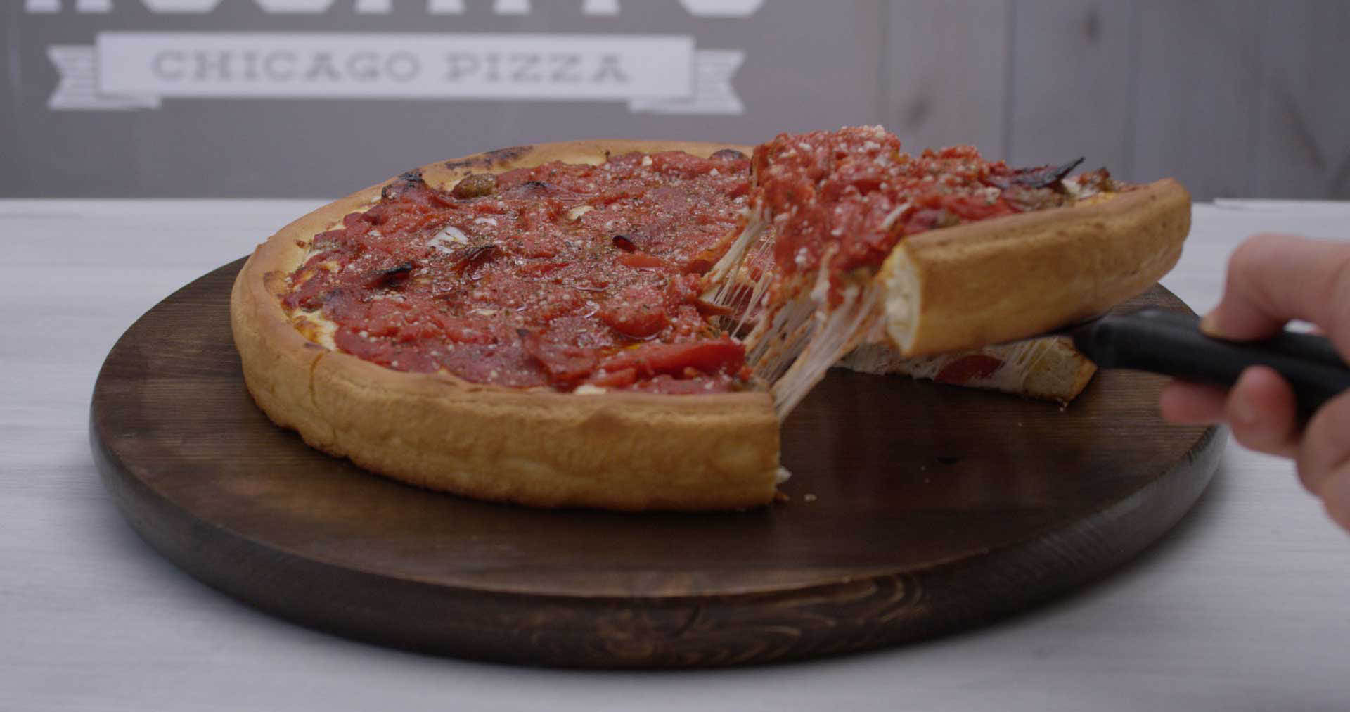 rosatis pizza milwaukee bay view WI deep dish chicago pizza