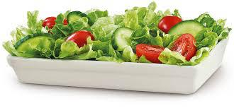 Healthy salads with garden veggies