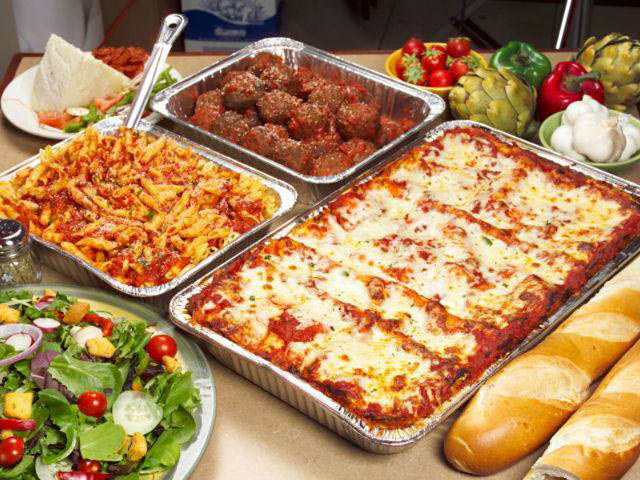 Catering packages available at Rosati's of Romeoville, IL.