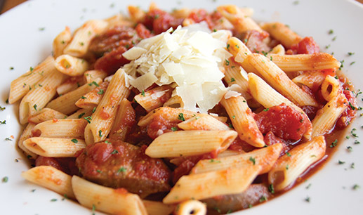 BOGO half off pasta coupons with sausage in Hinsdale